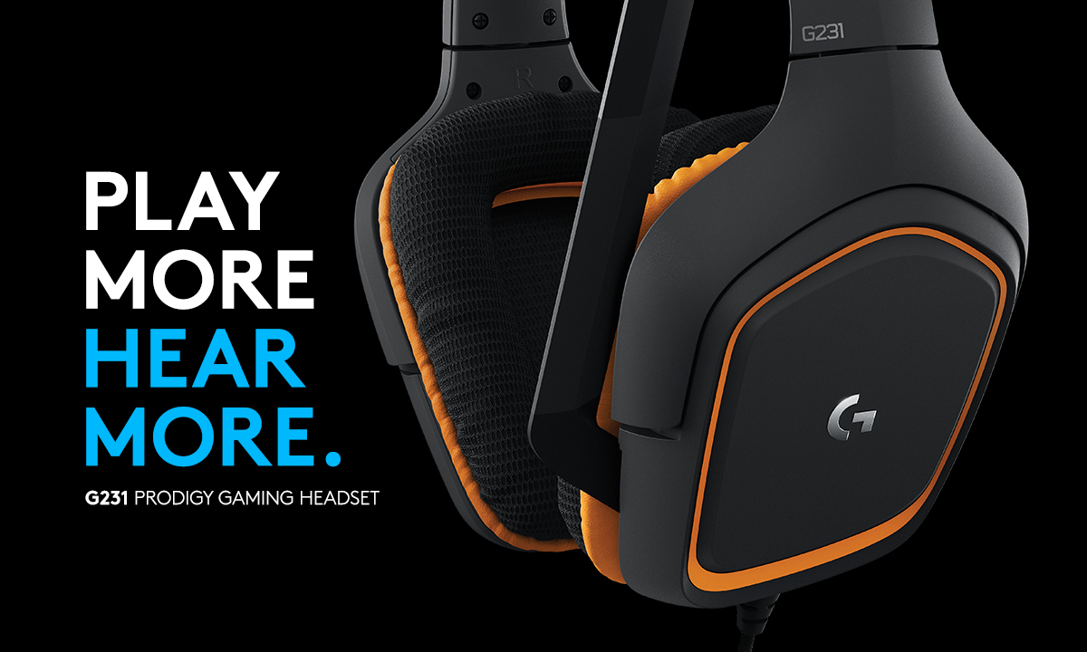 PLAY MORE HEAR MORE. G231 PRODIGY GAMING HEADSET