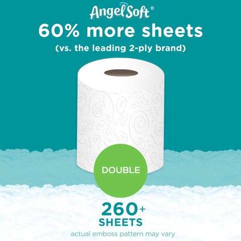 Angel Soft Bath Tissue 6 Double Rolls Toilet Paper Meijer Com