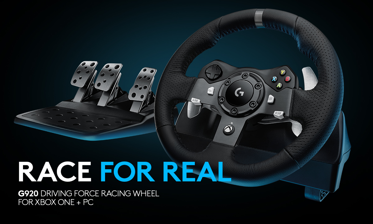 RACE FOR REAL. G920 Driving Force Racing Wheel for XBOX ONE + PC
