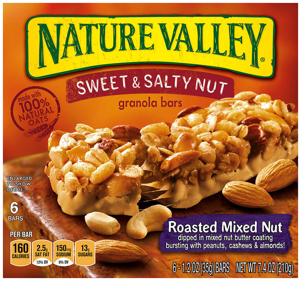 nature valley sweet salty nut roasted mixed nut granola bars 1 2 oz 6 ...