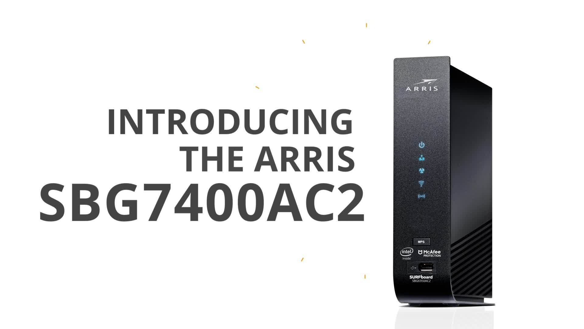 Arris SURFboard SBG7400AC2 Cable Modem and Wi-Fi Router with ARRIS Secure  Home Internet by McAfee - Newegg com