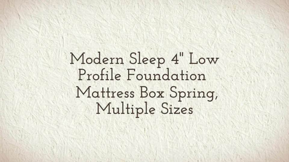 modern sleep instant foundation low profile 4inch boxspring replacement multiple sizes walmartcom