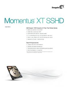 View Data Sheet: Momentus XT  PDF