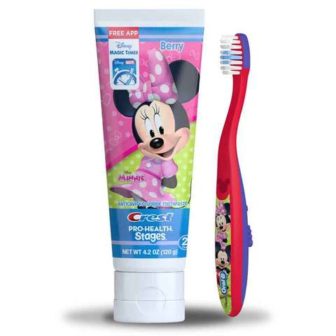 Kids Toothpaste And Toothbrush Oral-B Pro-Health Stag...