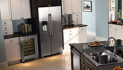 Classic Kitchen Featuring Counter-Depth Refrigerator with IQ-Touch® Controls