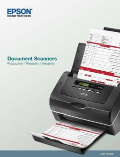 View Epson Document Scanner Comparison Guide PDF