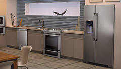 Loft Kitchen Featuring Counter-Depth Refrigerator with IQ-Touch® Controls