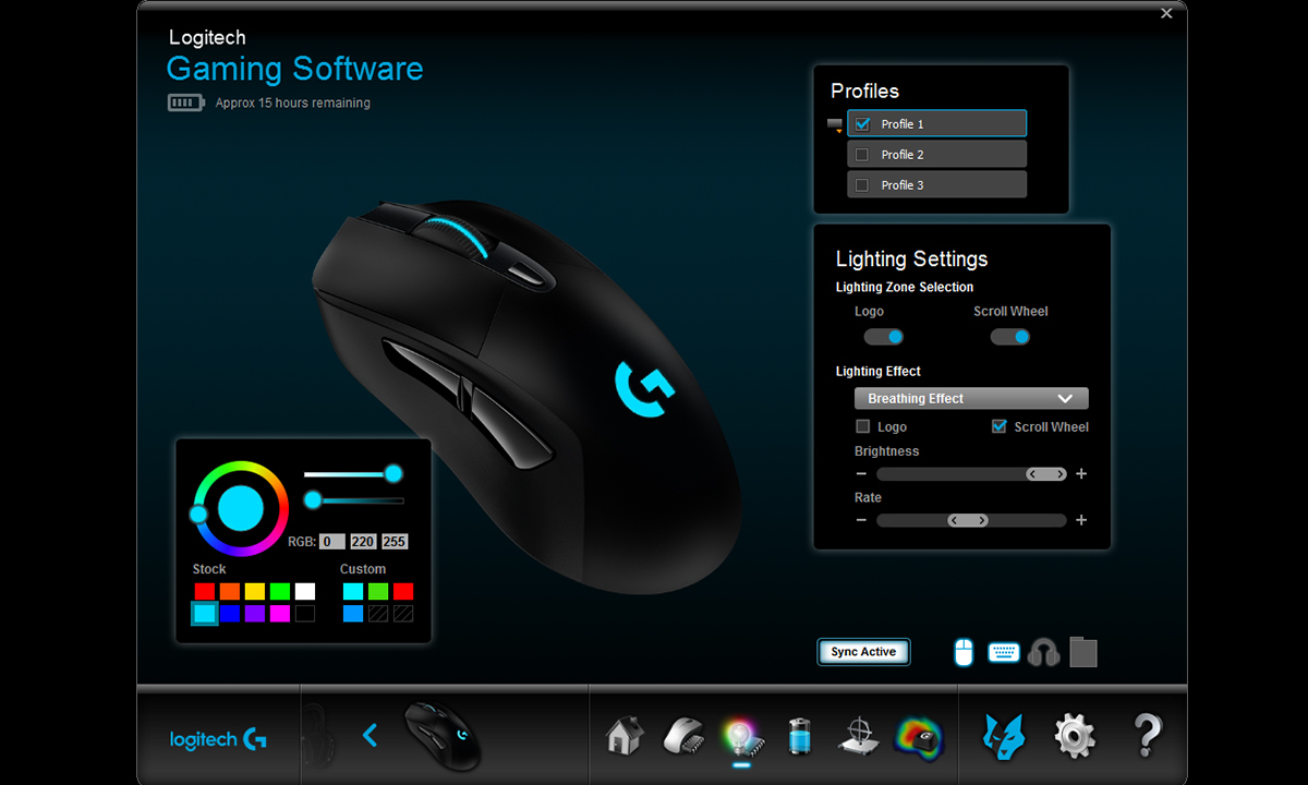 Logitech® G703 LIGHTSPEED Wireless Optical Gaming Mouse, 1 11/16