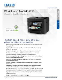 View Epson WorkForce Pro WF-4740 Product Specifications PDF