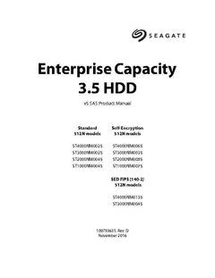 View Seagate Enterprise Capacity 3.5 HDD 512N 1-4TB SATA Product Manual PDF
