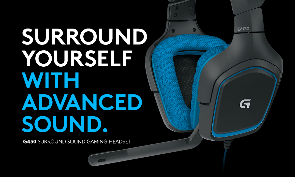 Logitech G430 Surround Over-the-Head Gaming Headphones with Mic