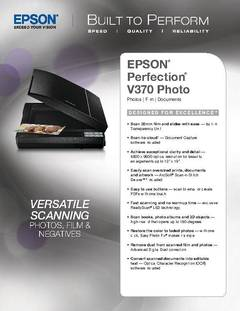 View Perfection V370 Product Specifications PDF