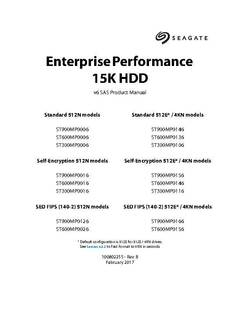 View Seagate Enterprise Performance 15K v6 HDD Product Manual PDF