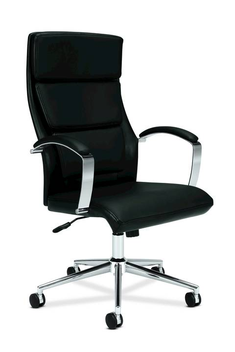 basyxhon executive softhread leatherchrome high back chair 46