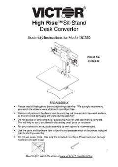 View DC350 Assembly Instructions PDF