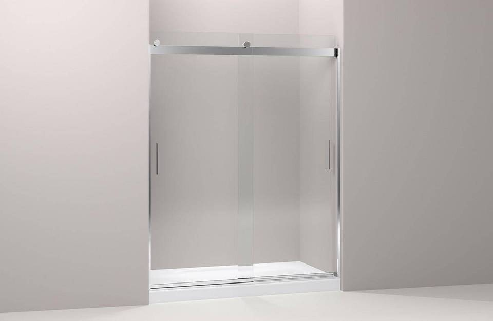Shop KOHLER Levity 56.625-in to 59.625-in W Frameless Bright Silver ...