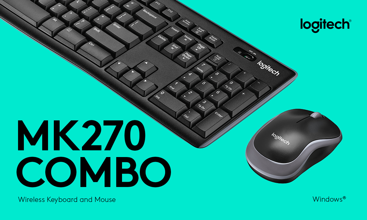 Logitech Wireless Combo MK270 - keyboard and mouse set - English ... 3ff40f4c1aecd