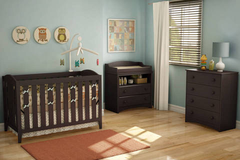 Awesome South Shore Angel Collection, Espresso Finish
