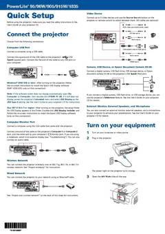 Quick Setup - opens PDF
