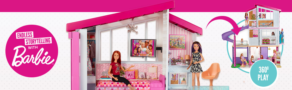 Barbie Dreamhouse Playset With Accessories Smyths Toys Ireland