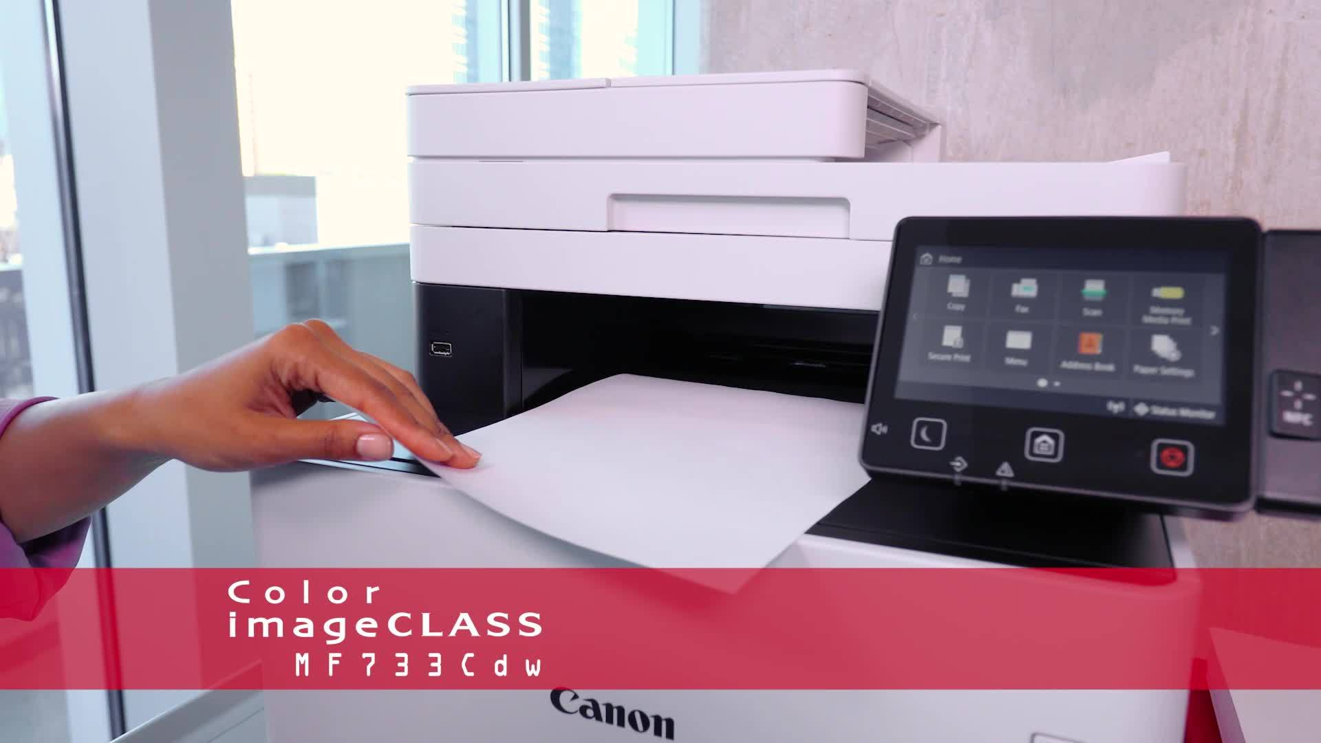 Canon imageCLASS MF733Cdw 1474C009 USB, Wireless, Network Ready Color Laser  All-In-One Printer