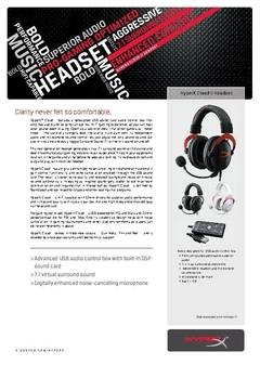 HyperX Cloud II Gaming Headset Datasheet