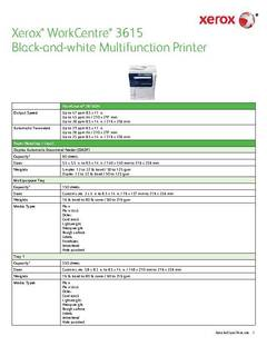 Detailed Specifications - WorkCentre 3615 - opens PDF