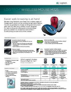 Wireless Mouse M325 Specification - opens PDF
