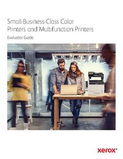 View Small-Business-Class Color Printers and Multifunction Printers Evaluator Guide PDF