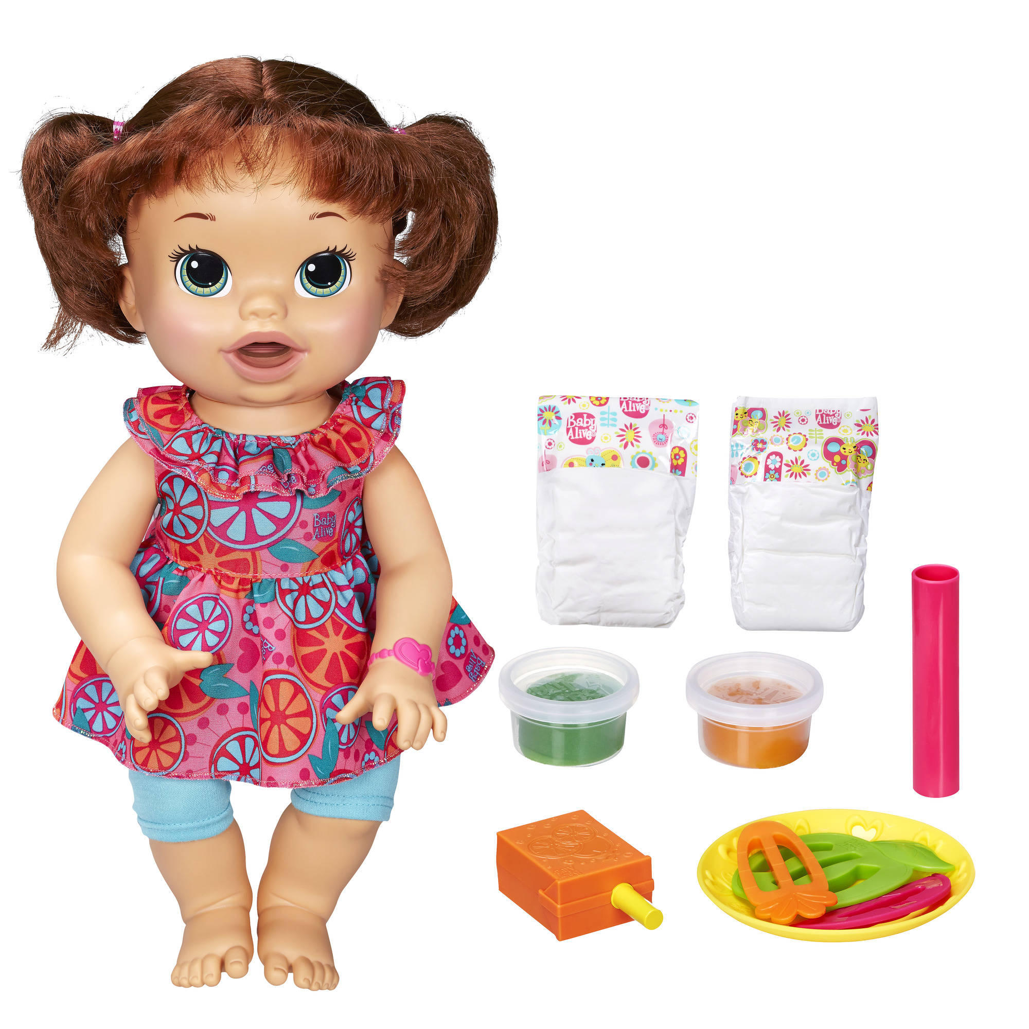 Baby Alive Super Snacks My Super Snackin Baby Doll Brunette