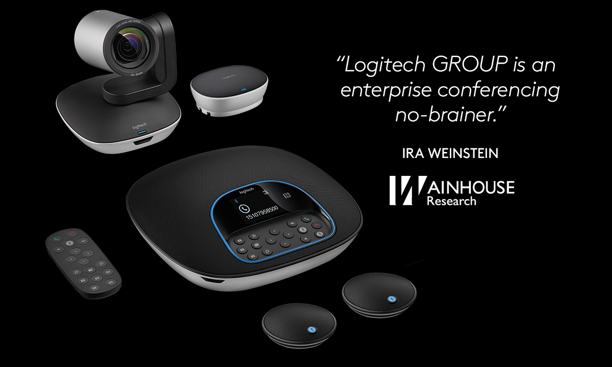 Logitech 960-001060 Group HD Video Conferencing System Bundle With  Expansion Mics - Video Conferencing Kit - With Logitech Expansion  Microphones -