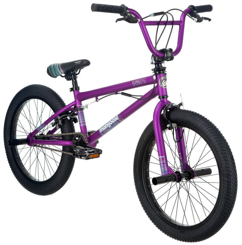 20 Mongoose Fling Girls Freestyle Bike Purple