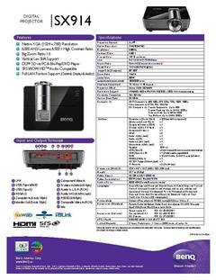 View SX914 Specification Sheet PDF