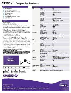 View ST550K Specification Sheet PDF