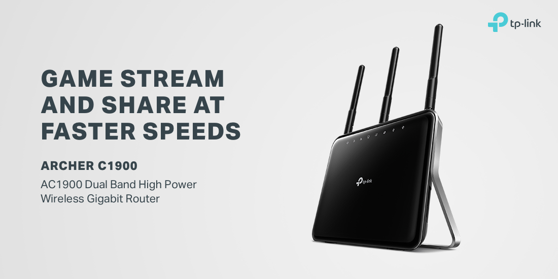 TP-Link High Power Wireless Dual Band Gigabit Router (Archer C1900) -  Newegg com