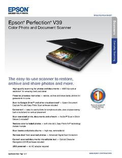 View Perfection V39 Product Specifications PDF