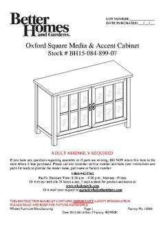 Oxford Square TV Console Assembly Manual