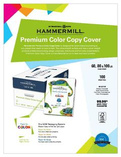 View Premium Color Copy Cover Product Sheet PDF