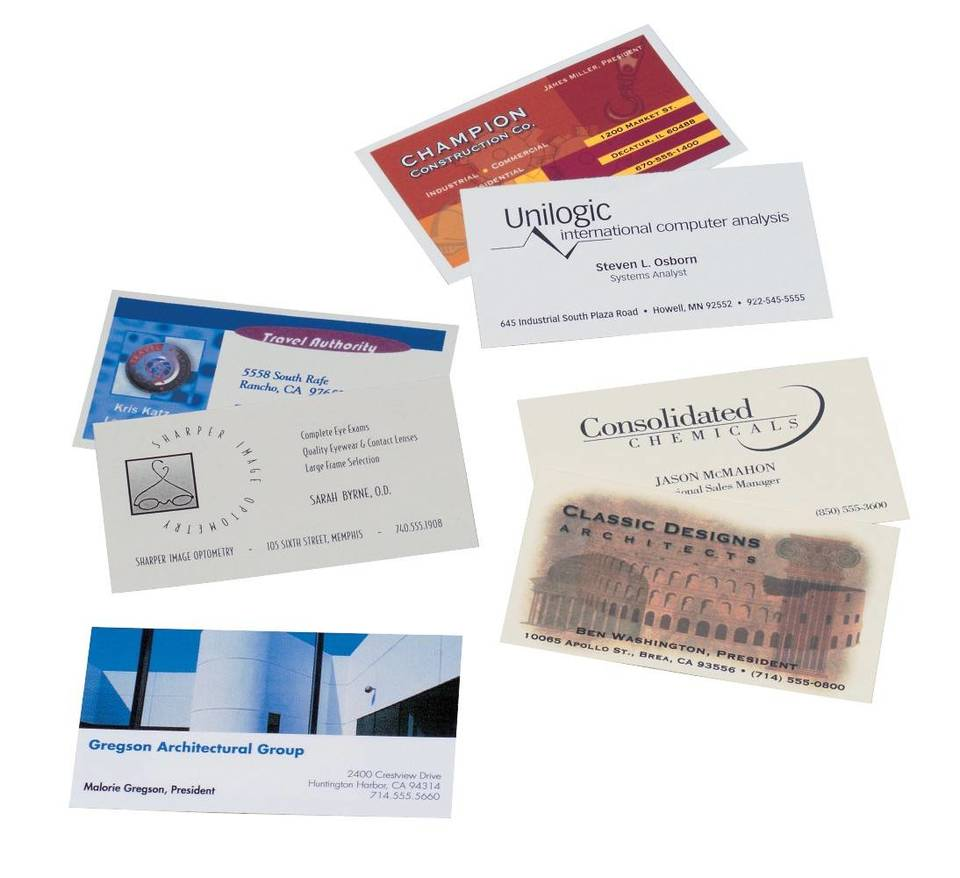 Avery® Print-to-the-Edge Color Laser Business Cards | Staples