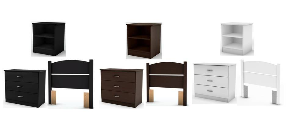 South Shore Smart Basics Bedroom In A Box, Multiple Colors