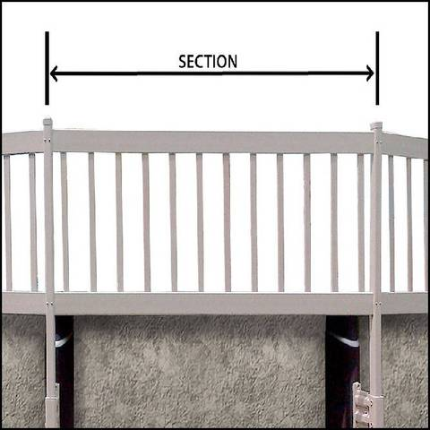 Above Ground Pool Fence gli above ground pool fence add-on kit c (2 sections) - white