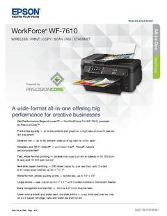 View WorkForce WF-7610 Product Specifications PDF