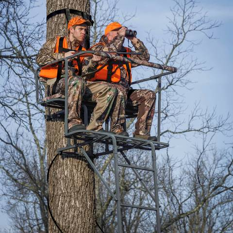Ladder Tree Stands Hunting Deer 2 Man Ladderstand Game