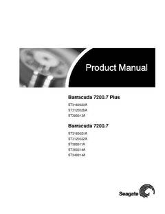 View Barracuda 7200.7 PATA User Guide PDF