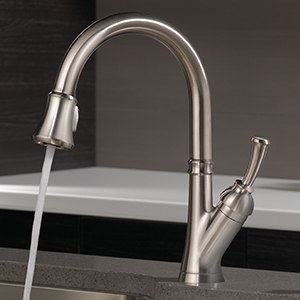 Savile Stainless 1-Handle Deck Mount Pull-down Residential Kitchen Faucet