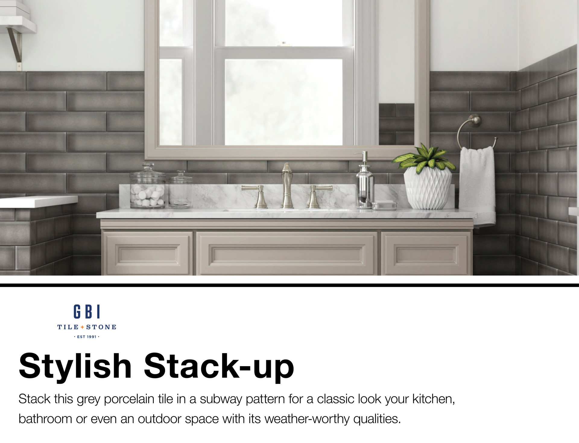Grace Bay Grey 3 In X 12 Porcelain Subway Tile Common Actual 2 95 11 81