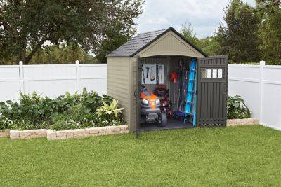 protect and organize your outdoor equipment rubbermaid outdoor storage sheds
