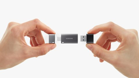 Samsung DUO Plus MUF-256DB - USB flash drive - 256 GB - USB