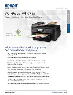 View Epson WorkForce WF-7710 Product Specifications PDF