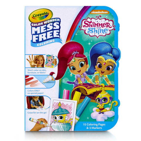 Crayola Color Wonder Shimmer & Shine Color on the Go, 15 Coloring ...